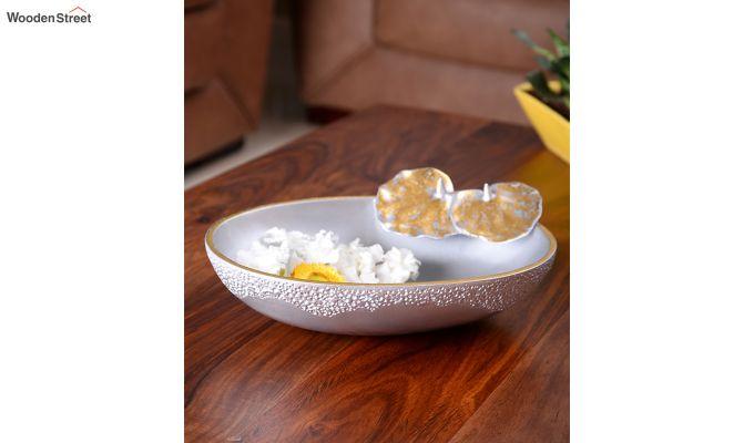 Silver Seashell Table Bowl-2