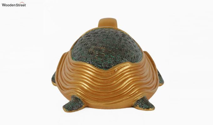 Two Turtles Gold Resin Figurine-4