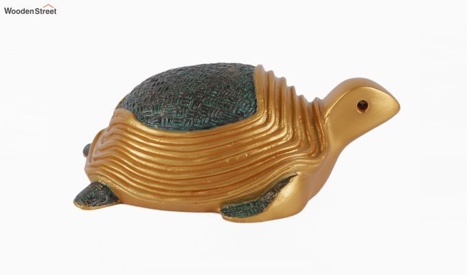 Two Turtles Gold Resin Figurine-5