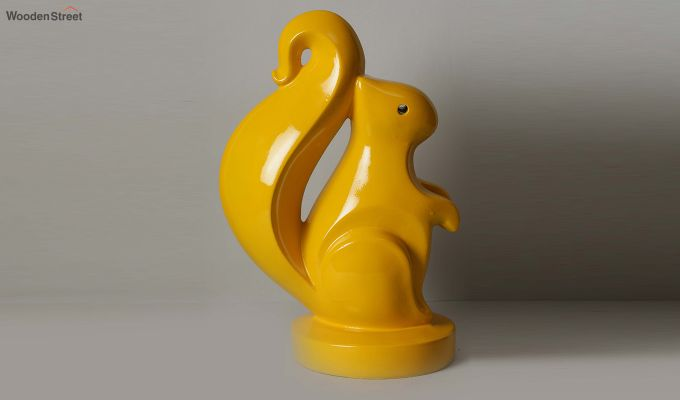 Yellow Squirrel Figurine-3