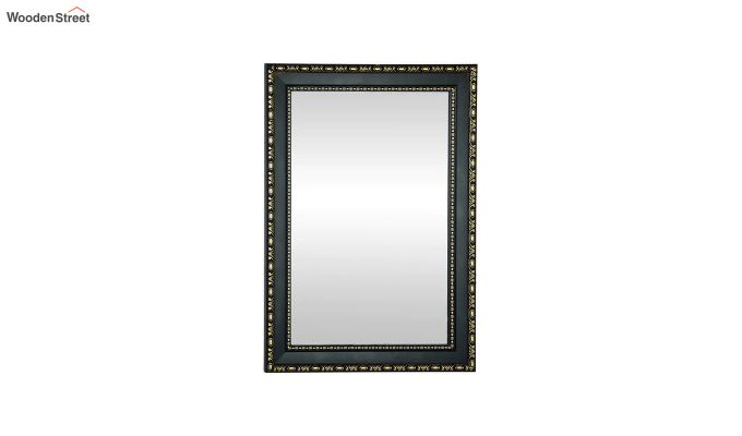 Black Fibre Frame Wall Hanging Bathroom Mirror-2