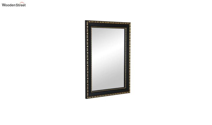 Black Fibre Frame Wall Hanging Bathroom Mirror-3