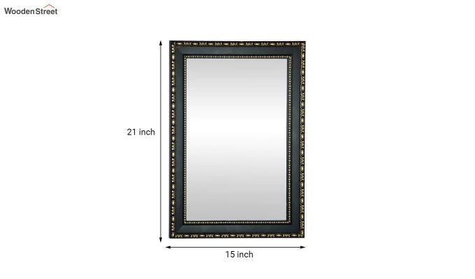 Black Fibre Frame Wall Hanging Bathroom Mirror-4