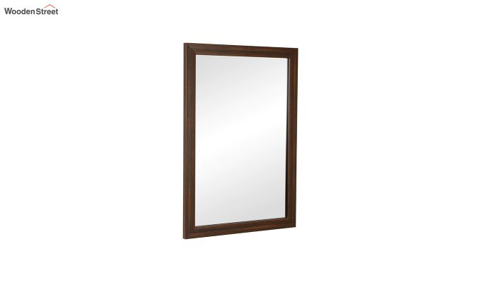 Fibre Frame Brown Wall Hanging Bathroom Mirror-2
