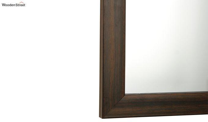Fibre Frame Brown Wall Hanging Bathroom Mirror-3