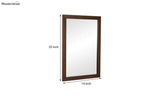 Fibre Frame Brown Wall Hanging Bathroom Mirror-4