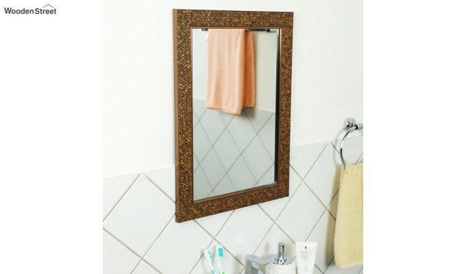 Fibre Frame HoneyComb Design Bathroom Mirror-1