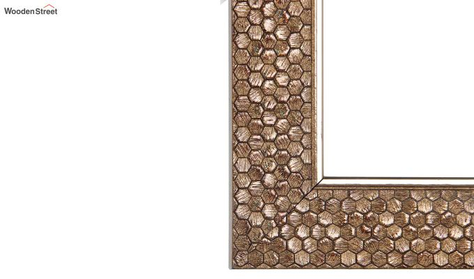 Fibre Frame HoneyComb Design Bathroom Mirror-4