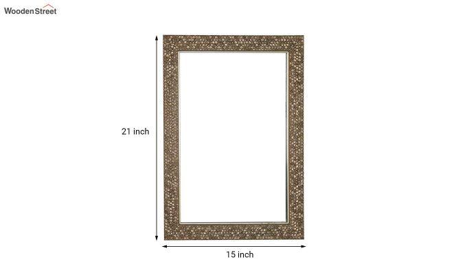 Fibre Frame HoneyComb Design Bathroom Mirror-5