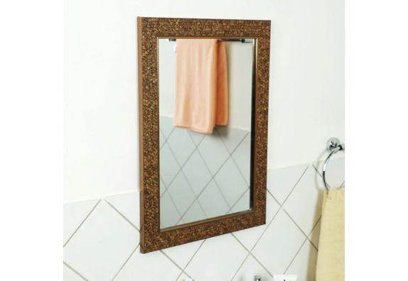 Buy Fibre Frame HoneyComb Design Bathroom Mirror Online in ...