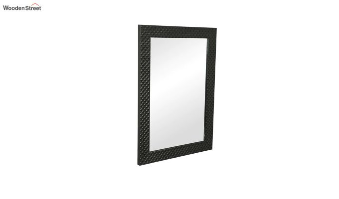 Fibre Frame Wall Hanging Black Bathroom Mirror-2