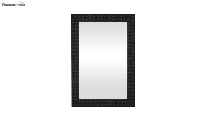Fibre Frame Wall Hanging Black Bathroom Mirror-3