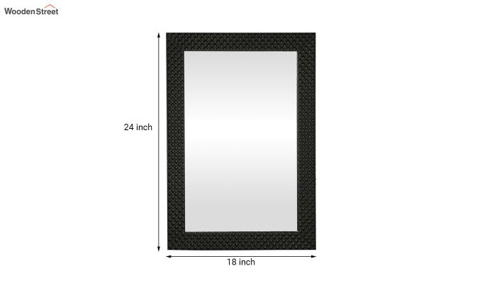 Fibre Frame Wall Hanging Black Bathroom Mirror-5