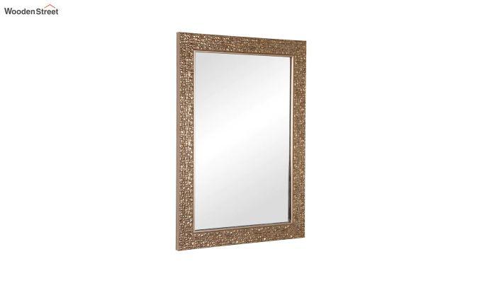 Fibre Frame Wall Hanging Brown Bathroom Mirror-2
