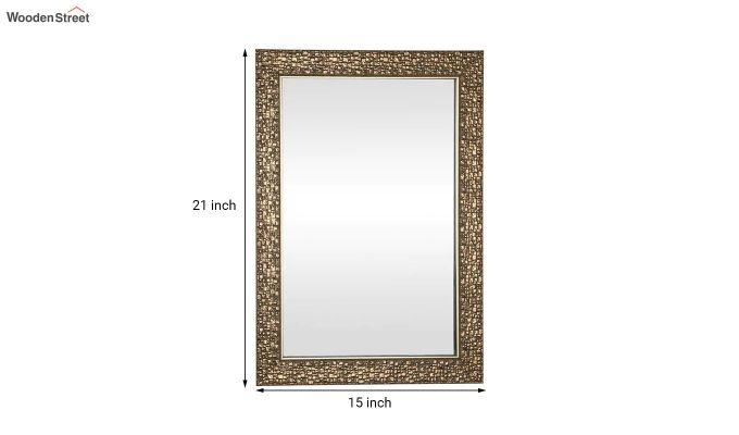 Fibre Frame Wall Hanging Brown Bathroom Mirror-4