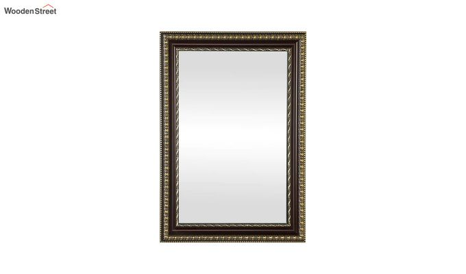 Fibre Frame Wall Hanging Maroon Bathroom Mirror-2