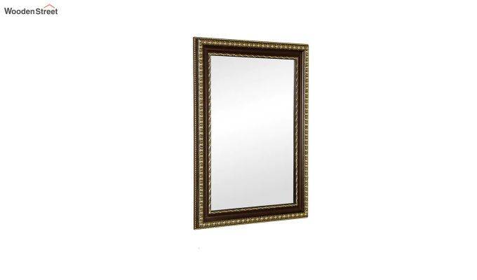 Fibre Frame Wall Hanging Maroon Bathroom Mirror-3