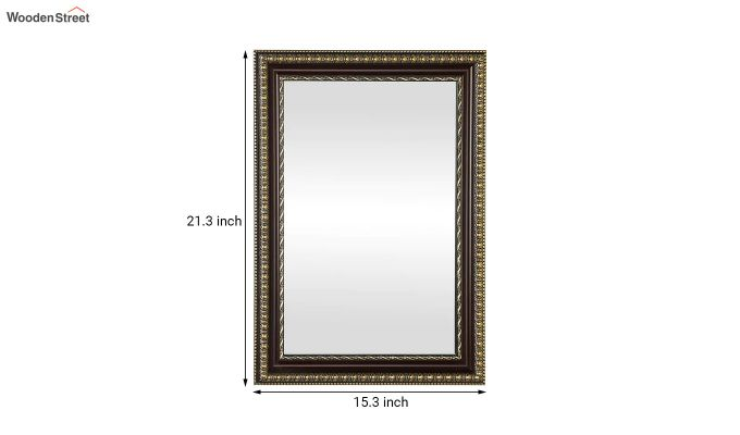Fibre Frame Wall Hanging Maroon Bathroom Mirror-4
