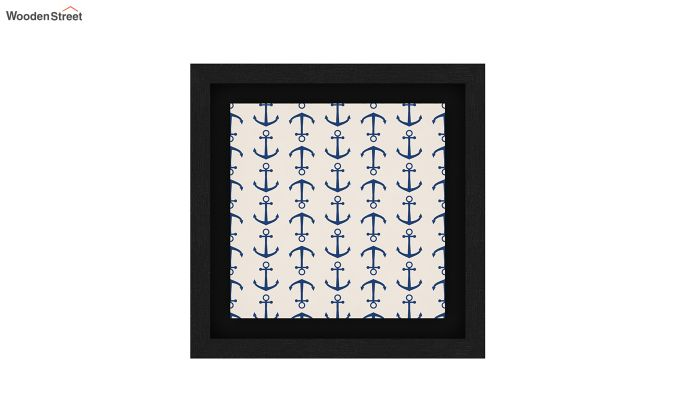 Anchor Sea Floater Framed Wall Art (Black Finish)-4