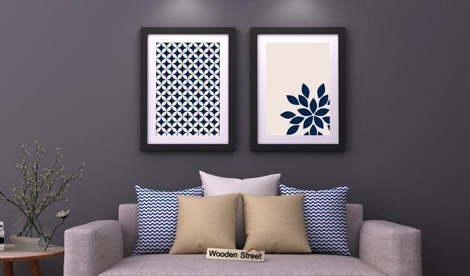 Blue Wood Framed Wall Art 1 (Set of 2)-1