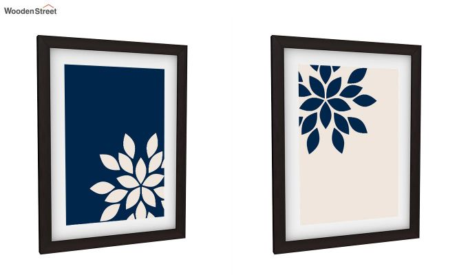 Blue Wood Framed Wall Art 2 (Set of 2)-2