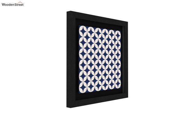 Blue Wood Floater Framed Wall Art 1 (Set Of 2) (Black Finish)-2
