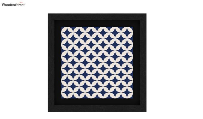 Blue Wood Floater Framed Wall Art 1 (Set Of 2) (Black Finish)-4