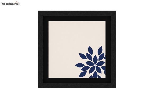 Blue Wood Floater Framed Wall Art 1 (Set Of 2) (Black Finish)-5