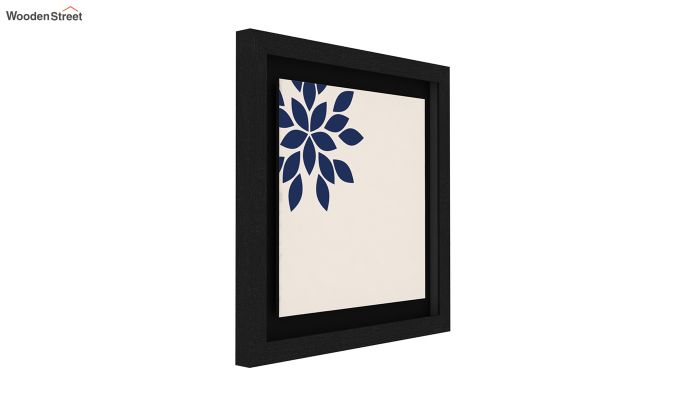Blue Wood Floater Framed Wall Art 2 (Set Of 2) (Black Finish)-2