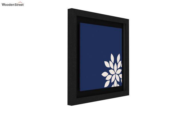Blue Wood Floater Framed Wall Art 2 (Set Of 2) (Black Finish)-3