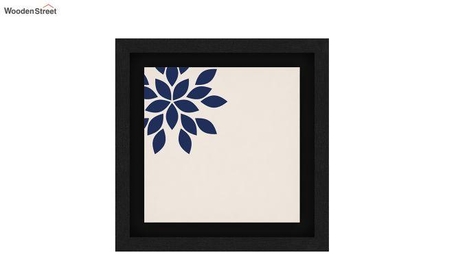 Blue Wood Floater Framed Wall Art 2 (Set Of 2) (Black Finish)-4