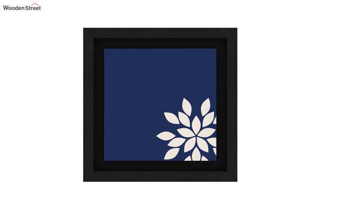 Blue Wood Floater Framed Wall Art 2 (Set Of 2) (Black Finish)-5