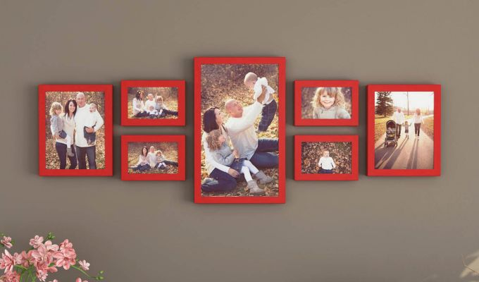 Camilla Frame Collage (Red Finish) (Red Finish)-1