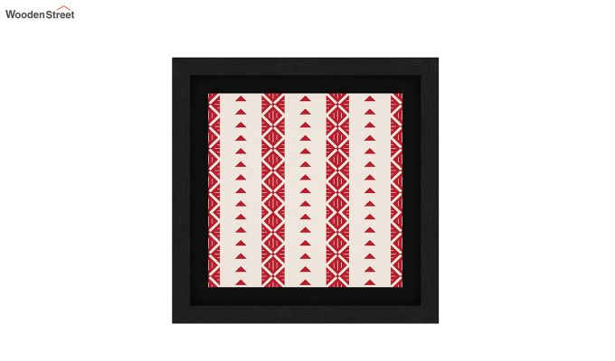 Crimson Fern Floater Framed Wall Art (Set of 2) (Black Finish)-2