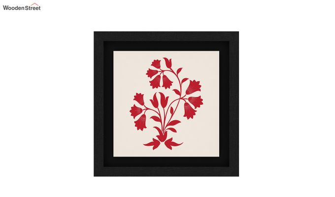 Crimson Fern Floater Framed Wall Art (Set of 2) (Black Finish)-3