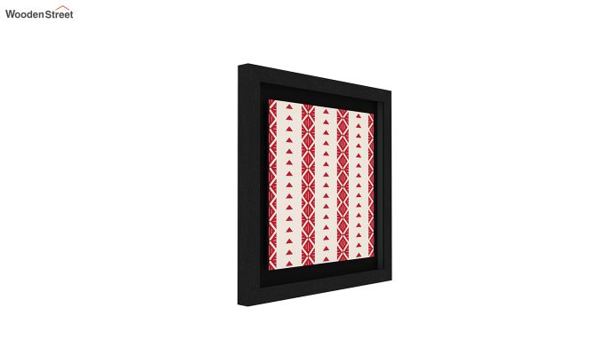 Crimson Fern Floater Framed Wall Art (Set of 2) (Black Finish)-4