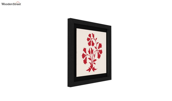 Crimson Fern Floater Framed Wall Art (Set of 2) (Black Finish)-5