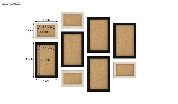 Havana Frame Collage (Black - White) (Black Finish)-3