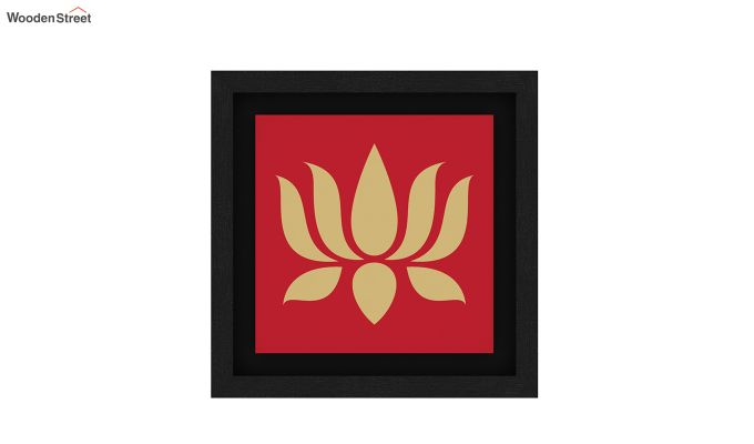 Lotus Stalks Floater Framed Wall Art (Set of 2) (Black Finish)-2