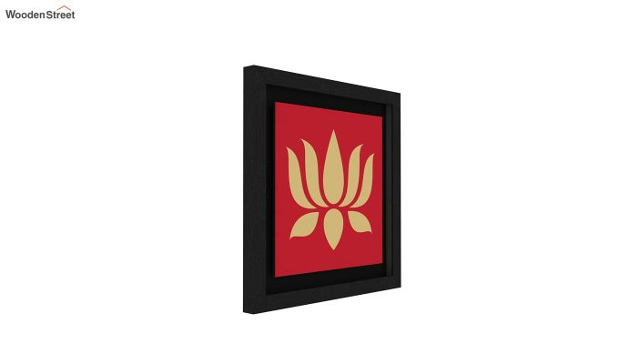 Lotus Stalks Floater Framed Wall Art (Set of 2) (Black Finish)-4