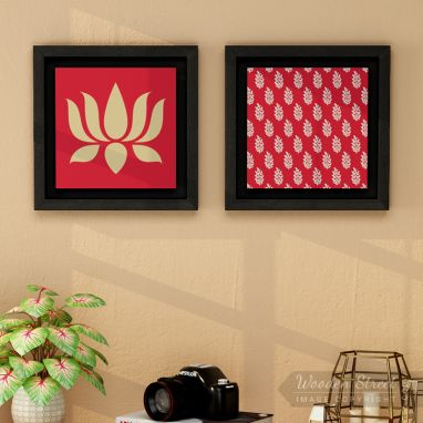 Lotus Stalks Floater Framed Wall Art (Set of 2)