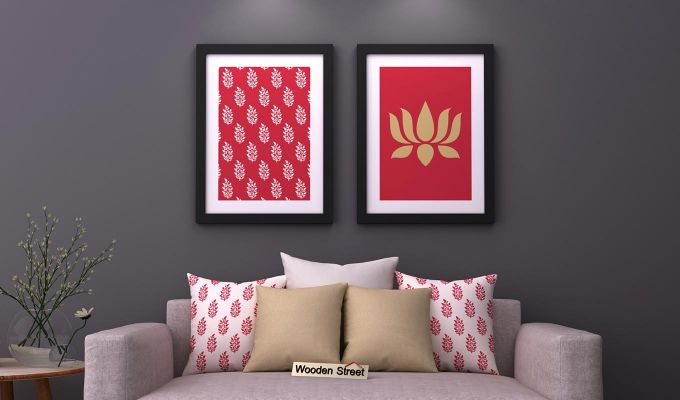 Lotus Stalks Framed Wall Art (Set of 2)-1
