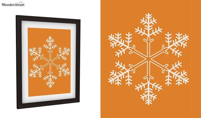 Orange Snow Flake Framed Wall (Set of 2)-3