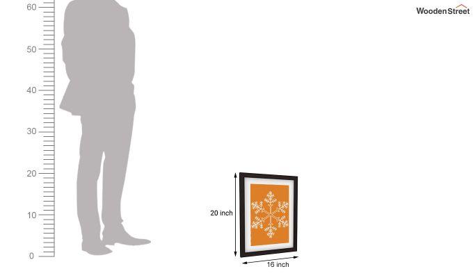 Orange Snow Flake Framed Wall (Set of 2)-5