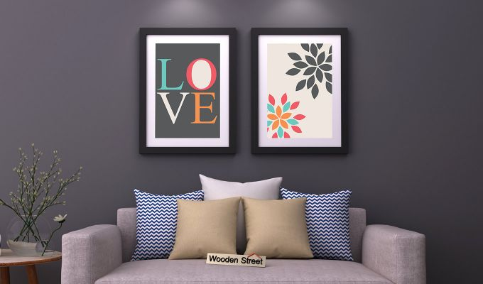 Peach Valentine Framed Wall Art 1 (Set of 2)-1