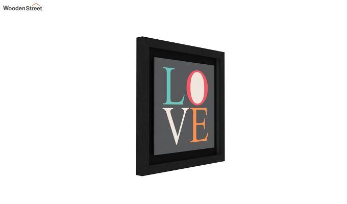 Peach Valentine Floater Framed Wall Art 1 (Set of 2) (Black Finish)-2
