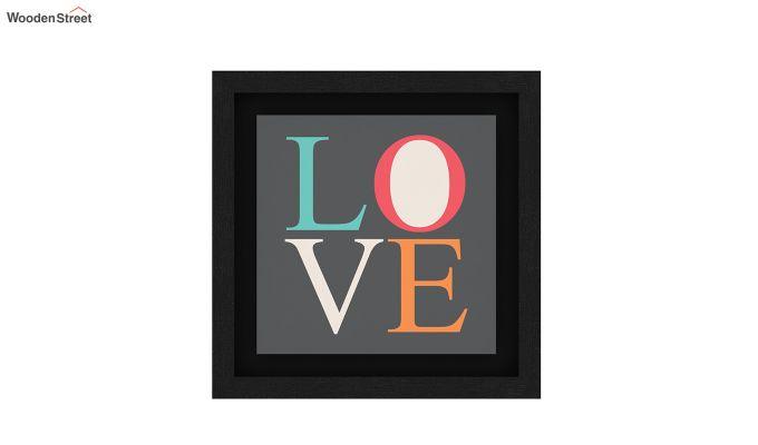 Peach Valentine Floater Framed Wall Art 1 (Set of 2) (Black Finish)-4