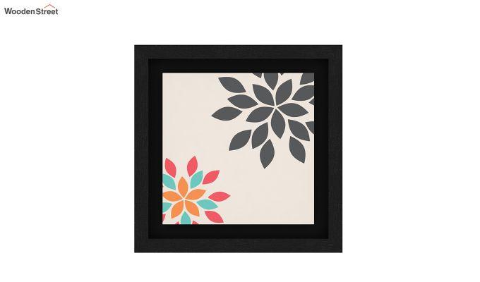 Peach Valentine Floater Framed Wall Art 1 (Set of 2) (Black Finish)-5