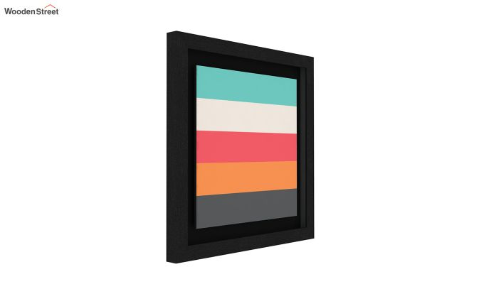 Peach Valentine Floater Framed Wall Art 3 (Set Of 2) (Black Finish)-2