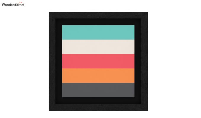 Peach Valentine Floater Framed Wall Art 3 (Set Of 2) (Black Finish)-4